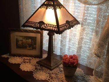 Vintage Lamp Vignette