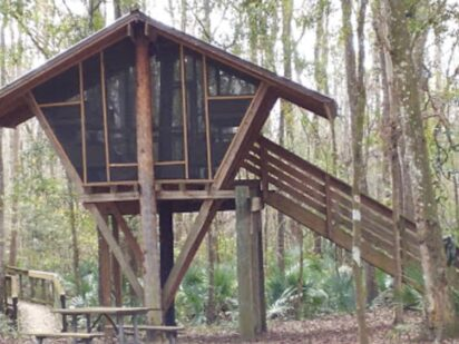 Tree House Glamping at old girl scout camp