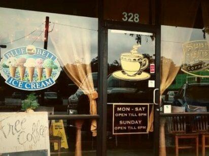 Entrance to Spring Park Coffee Shop